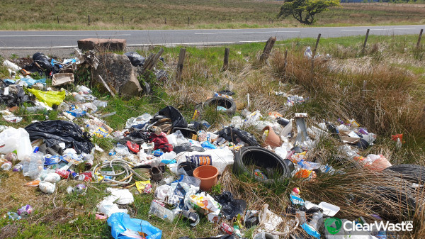 Let's try and put a stop to fly tipping in around North lanarkshire or even name and shame tipping areas