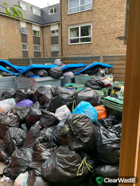 Residents group to report fly tipping in bin stores across the estate.