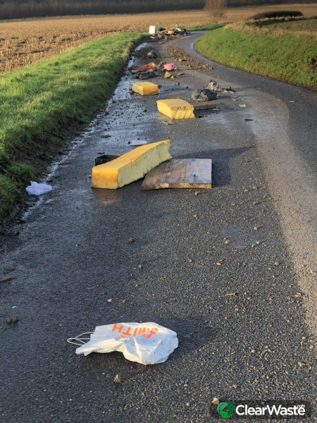 Image from: 'Building firm cleans up its fly-tipped waste after drone footage goes viral'