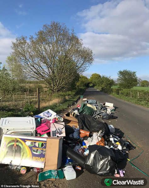 Image from: 'Fly tipping DOUBLES during coronavirus lockdown in London'