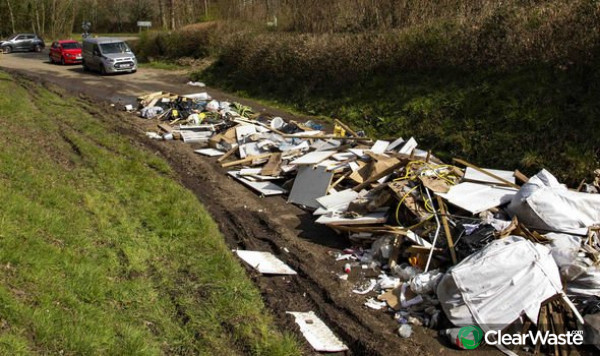 Image from: 'Incidents of 'disgusting' fly-tipping on rise after lockdown according to Clearwaste app.'