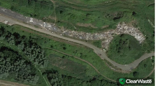Image from: 'The illegal dump that has so much rubbish it can be seen from space'