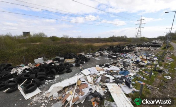 Image from: 'Shocking Google Earth pics show fly-tipping dumping ground piled high with sofas and tyres'