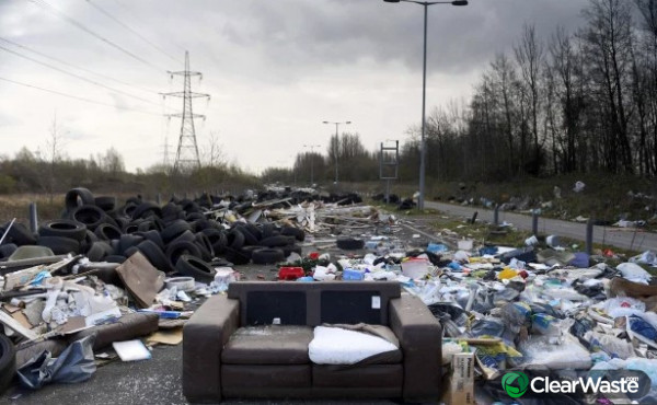 Image from: 'Coronavirus: 'Disgusting' fly-tipping soars during Covid-19 lockdown'