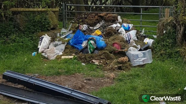 Image from: 'FLYTIPPERS USE LOCKDOWN TO DO THEIR DIRTY DEEDS'