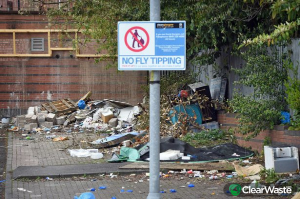Image from: 'Cops forced to guard illegal fly-tipping sites as fears raised'