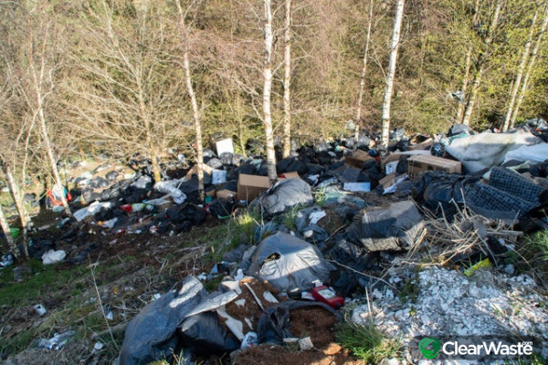Image from: 'Council bosses say there has been a fall in the number of fly-tipping incidents.'