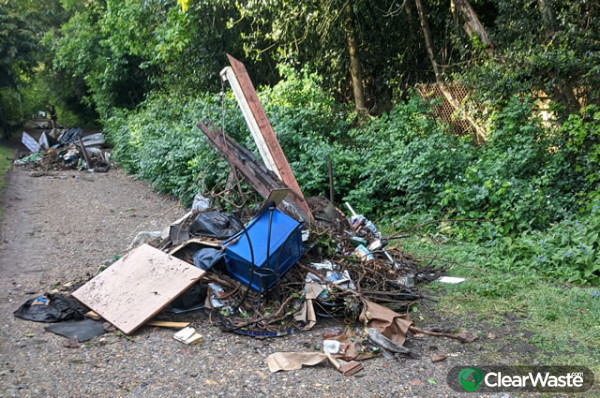 Image from: 'Fly-tippers dump waste and mattresses on Putney Park Lane during lockdown'
