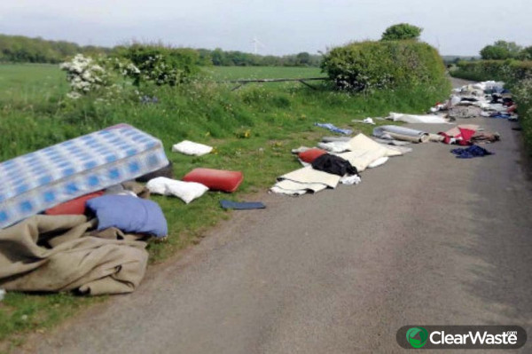 Image from: 'Coronavirus lockdown sees fly tipping soar 75% with tips closed and fewer bin runs'