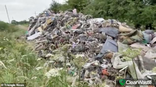 Image from: 'Farmer says Government isn't doing enough to stop fly-tippers'