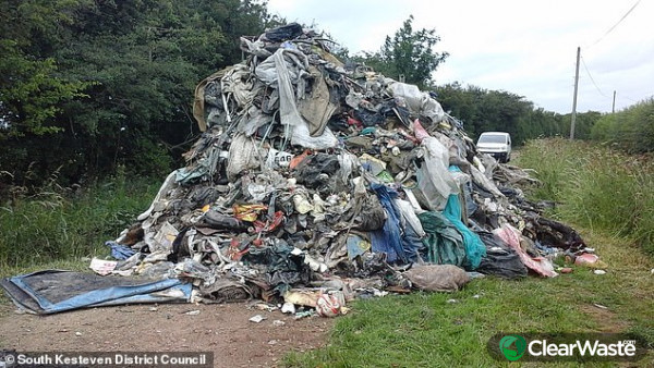 Image from: 'Outrage as fly-tippers dump rubbish in Lincolnshire country lane'